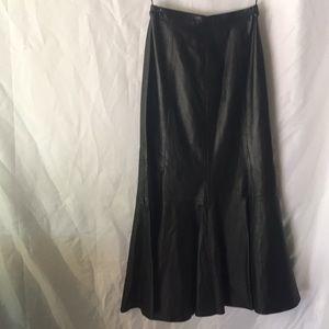 Black leather skirt